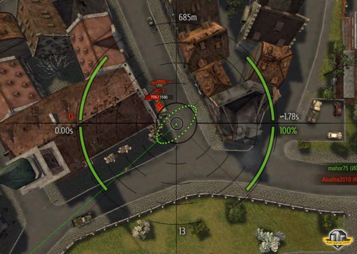 Своими прицелами для world of tanks 0 9 2