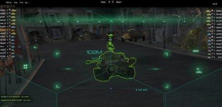 Футуристический зеленый прицел для World of Tanks 0.8.7