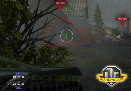 Прицел с панелью бронирования цели World Of Tanks 0.8.7