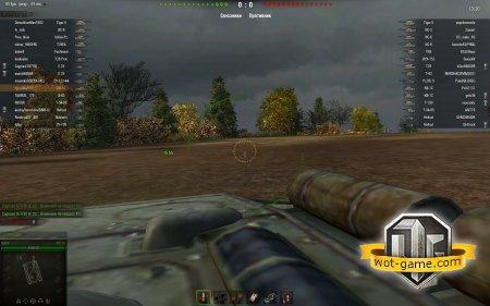 Вид от первого лица в World of Tanks 0.8.10