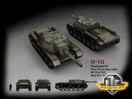 Какое орудие ставить на СУ-152 в World of Tanks?