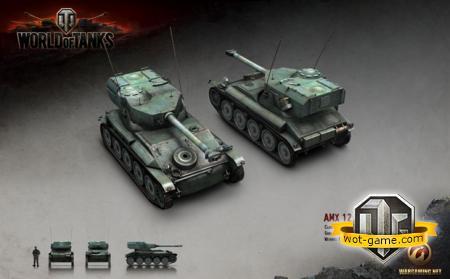 "Знакомство с ""AMX 12t"" в World of Tanks"