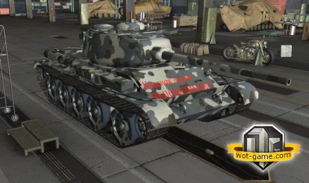 Зимняя шкурка-камуфляж на Т-44