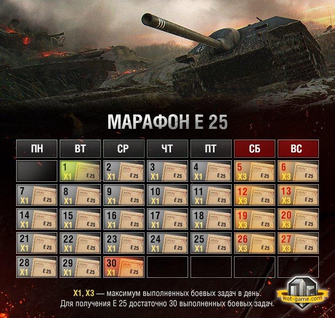 Акция дня купить е25 wot все премиум танки world of tanks