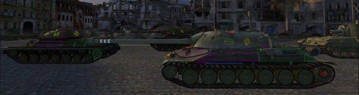 Цветные зоны пробития World of Tanks 9.17