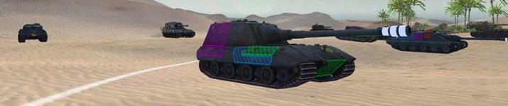 Штрихованные зоны пробития для World of Tanks 9.17