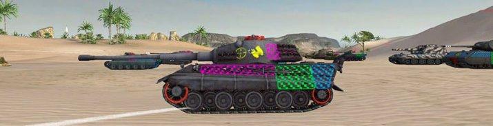 Штрихованные зоны пробития для World of Tanks 0.9.16