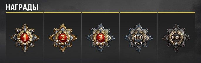 Медали победителя Танковых асов
